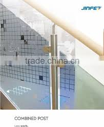 stainless steel glass railing systems glass handrail system stainless steel glass clamp
