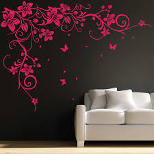 Small Picture Butterfly Vine Flower Wall Art Stickers Decals 031 Flower wall