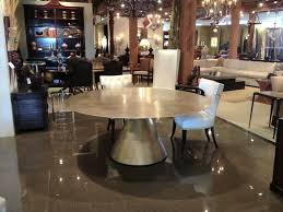 round kobe dining table in silver tea