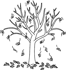 Small Picture Coloring Page Of Fall Tree Coloring Pages