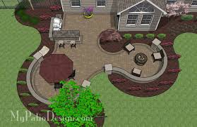 Small Picture 670 sq ft of Outdoor Living Space Curvy Design Creates