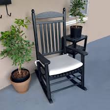 black outdoor rocking chair cushions