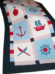 125 best BEACH QUILTS images on Pinterest | DIY, Appliques and Crafts & NAUTICAL Quilt Patchwork Pirate Quilt by Customquiltsbyeva, $270.00 Adamdwight.com