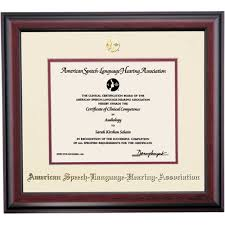 american speech language hearing association traditional  american speech language hearing association traditional certificate frame