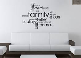 Small Picture Design Your Own Personalised Family Wall Art Quote Wall Sticker
