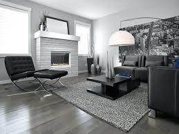 dark gray wood floors dark hardwood floor grey wall black couches customized living room table urban