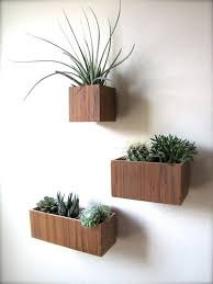 teak wall planters hanging planters set