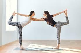 partner yoga duo dancers pose