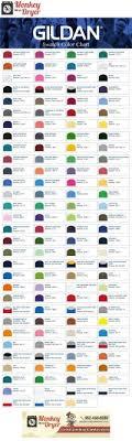 2018 Gildan Color Chart Gildan Color Chart 2018