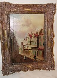victorian oil on canvas castle hill edinburgh by t mattheson 1 of