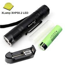 S21 Đen Đèn Pin Đèn pin CREE XHP50.2 6500K ĐÈN LED bên trong đồng DTP ban  vô cấp Dimming ánh sáng thiết kế 21700 hoặc 18650 pin|Đèn Flash & Đèn Pin