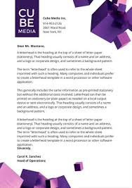 Company Letterhead Templates Extraordinary Purple 48D Cubes Official Letterhead Templates By Canva