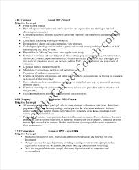Paralegal Resume Magnificent Paralegal Resume Template 60Free Word PDF Documents Download