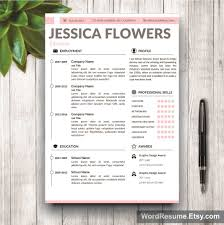 Resume Template Microsoft Word Free Resume Template Cover Letter and Portfolio for MS Word 66