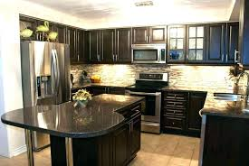 brown cabinets with white countertops ideas for dark cabinets stone with kitchen tile white gray quartz