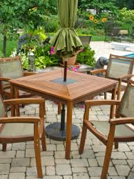 mesmerizing wooden patio table and chairs teak outdoor dining set tables with umbrellas outdoor wooden
