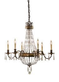 6 light single tier chandelier oxidized bronze