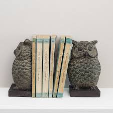 Owl Bookends - Antique Look Owl Bookends - Antique Look