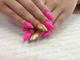 Bright Pink Nails Körmök Körmök Körömötletek és Köröm Design