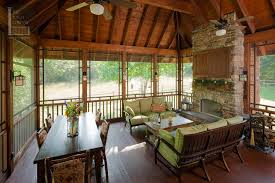 image of small lake house plans with screened porch furniture