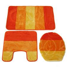 bathroom chanelle nuvogue piece leaf design bath rug set orange amusing bathroom chanelle nuvogue piece
