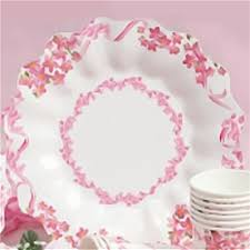 Pink Flower Paper Plates Pink Flowers Paper Plates 23 Cm Radar Gvi62933 Pack Of 10 Pieces