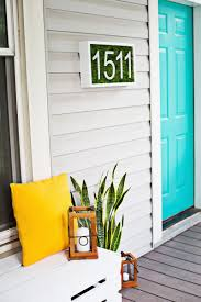 Turquoise door from a