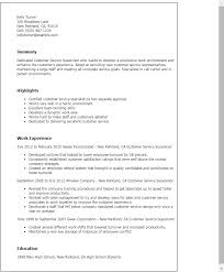 Resume Templates: Customer Service Supervisor