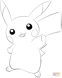 Pikachu Coloring Page From Generation I