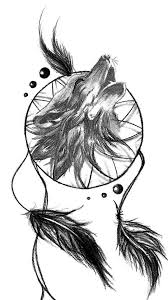 Wolf Dream Catcher Tattoos