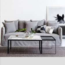Marble Living Room Table Set Designer Melrose Square Marble Coffee Table Set Black Metal Base