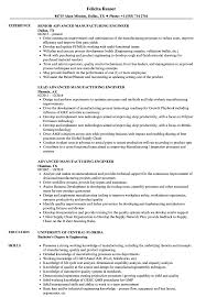 Manufacturing Engineer Resume Examples Advanced Manufacturing Engineer Resume Samples Velvet Jobs