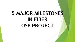Osp Fiber 5 Major Milestones In Fiber Osp Project