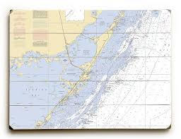 Key Largo Chart Fl Keys Key Largo Fl Nautical Chart Sign