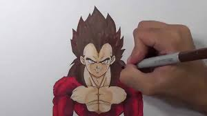 Drawing Vegeta Ssj4 Super Saiyan 4 Youtube