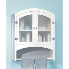 image of white bathroom wall cabinets