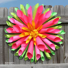 Diy Paper Flower Wreath Dahlia Paper Flower Wreath 6 Steps With Pictures