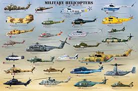 Helicopter Recognition Chart Military Helicopters Poster Print 36x24 Poster Print 36x24