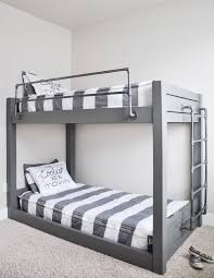 An industrial style DIY bunk bed
