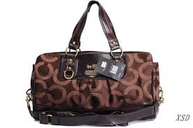 Coach Madison Logo Signature Large Coffee Luggage Bags EML