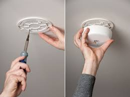 image of wireless ceiling light installing