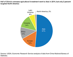 A Pie Chart Showing Regional Shares Of Chinas Overseas