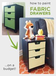 fabric paint for furniturePainting fabric drawers A DIY furniture project for the nursery