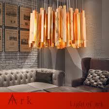Rustic Wood Light Fixtures Us 330 0 Ark Light Creative Modern Design Meteor Shower Wooden Led Pendant Lamp Dinning Room Rustic Light Fixture Lampes Suspendues In Pendant