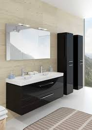 Slimline Wall Cabinet Double Washbasin Cabinet Wall Hung Wooden Contemporary