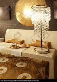 Asiatische Moderne Schlafzimmer Frühstück Luxus Tisch Stockfoto