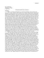 a thousand splendid suns notes amp answers reading for college  2 pages a thousand splendid suns summary 2