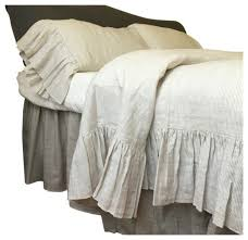 linen ticking striped bedding with mermaid long ruffles twin duvet cover only farmhouse