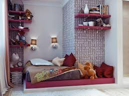 Small Bedroom Couches Charming Love Pattern Teen Small Bedroom With White And Pink