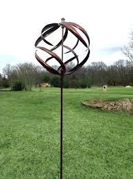 kinetic garden wind spinners sphere spinner yard
